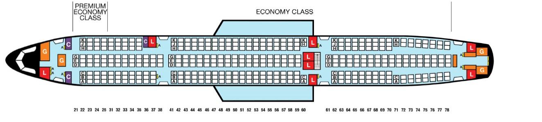 フィリピン航空A330奴隷船仕様シートマップ