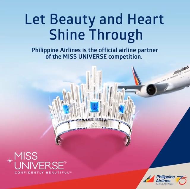 ミス・ユニバースオフィシャルエアライン、フィリピン航空
