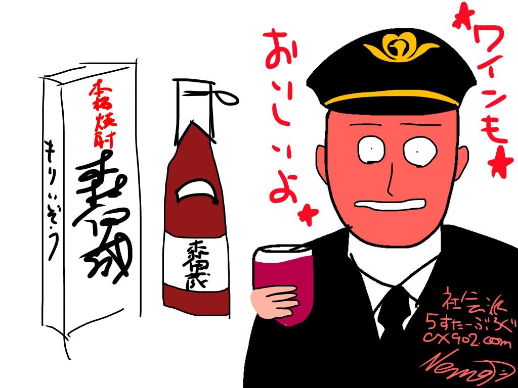 JALの飲酒 副機長(コパイ)