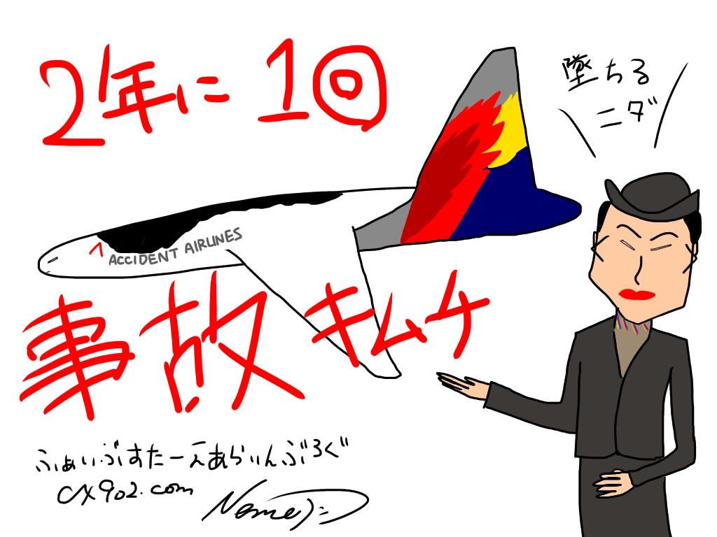 2年に1回事故キムチ アシアナ航空は危険!危ないからやめとけ