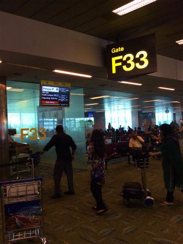 シンガポール・チャンギ空港 ゲートF33