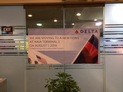 Delta Manila Terminal3へ引越